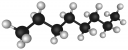 The octane molecule, an alkane.
